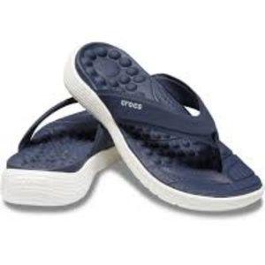 NIB Navy & White Reviva Crocs